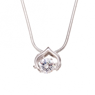 Purple Halo Pendant and Necklace with Simulated Diamonds