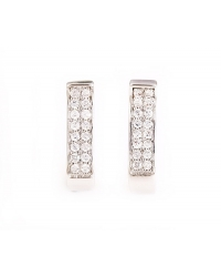 Art Deco Simulated Diamond Earrings