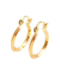 18K Gold Plated Simple Hoop Earrings