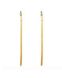 Three Strand 18K Gold Plated Earrings