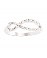 Eternity Simulated Diamond Ring