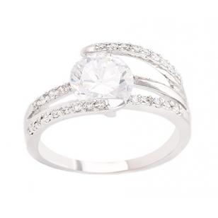 Cheap Wedding Rings Online Crossover Simulated Diamond Wedding Ring