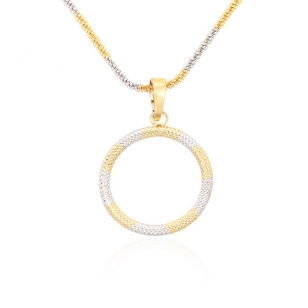 Discount jewelry in montreal 18k gold plated circle necklace 18k gold plated circle pendant and necklace aloadofball Gallery