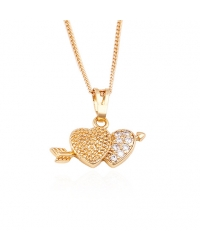 18K Gold Plated Heart Pendant and Necklace