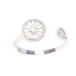 Simulalted Diamond Open Ended Ring