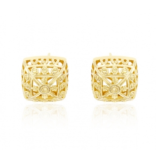 14K Gold Plated Square Earrings