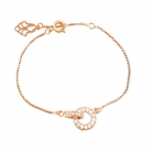 Rose Gold Plated Bracelet with Simulated Diamonds