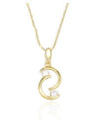 14K Gold Plated Pendant and Necklace