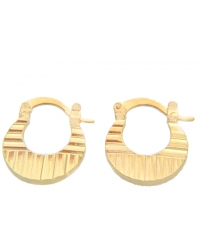18K Gold Plated Textured Earrings