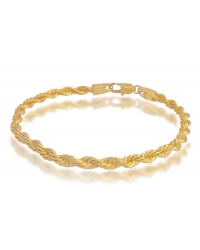 18K Gold Plated Twisted Bracelet