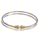 18K Gold Plated Two Tone Bangle Bracelet