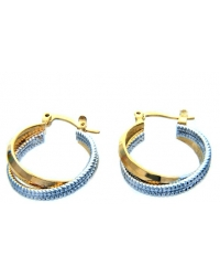 18K Yellow Gold Plated Interlaced Hoop Earrings