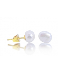 7mm Genuine Freshwater Pearl Earrings