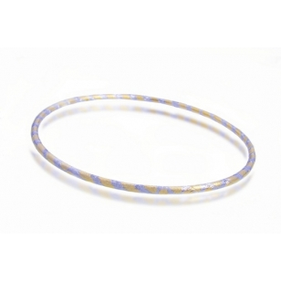 Two Tone 18K Gold Plated Bangle