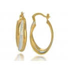 Two Tone 18K Gold Plated Earrings